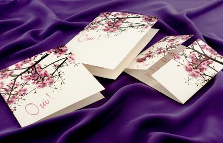 Faire Part Mariage Cerisier Japonais Faire Part Mariage 2